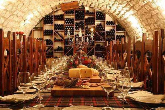 The Knight's Table Wine Cellar via The Scots Hotel