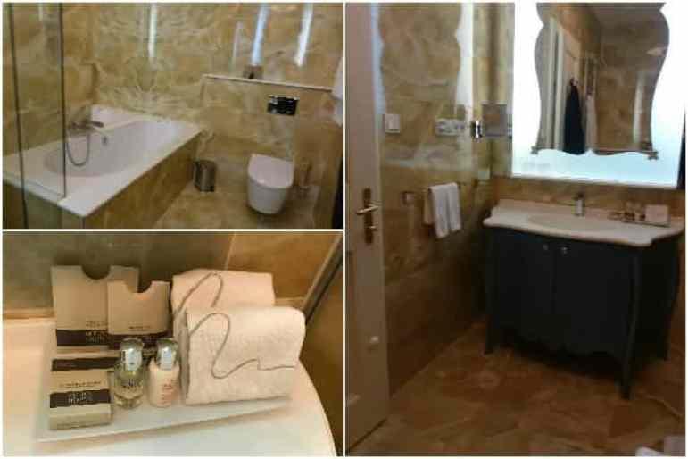 The Aria Signature King Room Bathroom