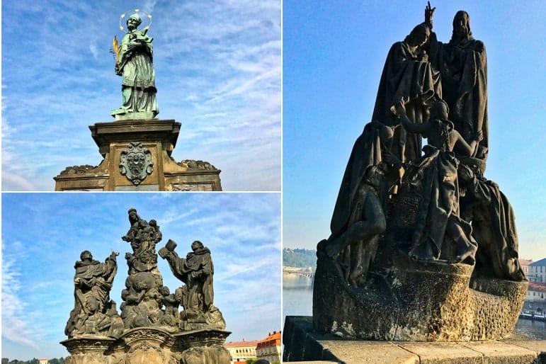 Baroque Statues on the Charles Bridge Prague