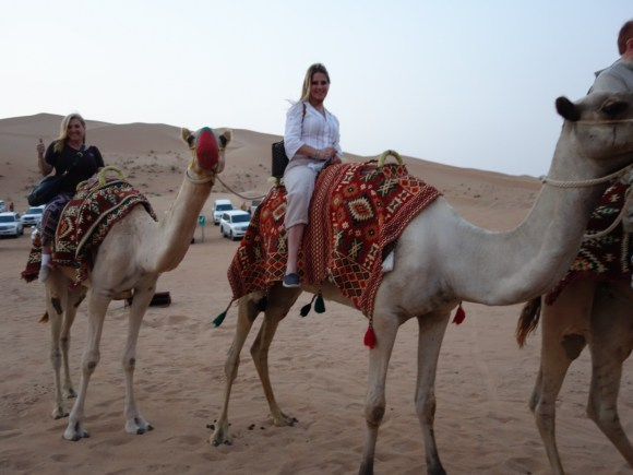 Camel ride on our Desert Safari with Arabian Nights Tours