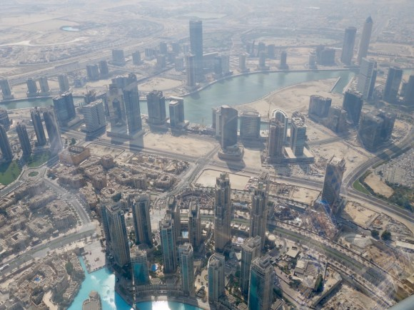 "A view from the 124th floor of the Burj Khalifa ""At The Top"""