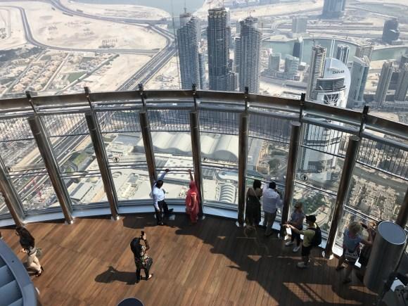 The observation deck of the 124th - Burj Khalifa