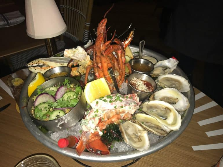 The Diplomat Seafood Sampler - Point Royal photo by Carmen Edelson
