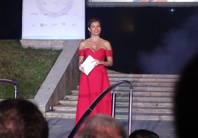 Turkish celebrity and sports star, Ece Vahapoglu at the Seven Stars Luxury Hospitality and Lifestyle Awards