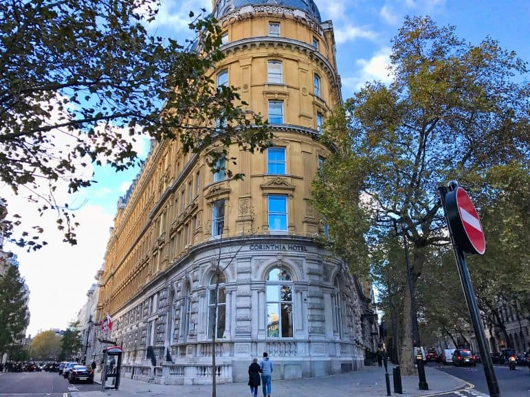 The Corinthia Hotel London was the exterior