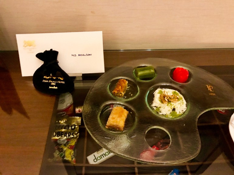 Welcome Tray at Pera Palace