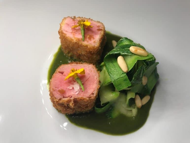 Tuna in Cereal Crust - Casa de La Playa Restaurant Iberostar Grand Hotel Bavaro