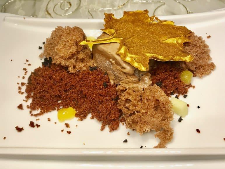 Iberostar Chef on Tour Dessert - Chocolate Ganache with earth olives, Bonao cocoa ice-cream