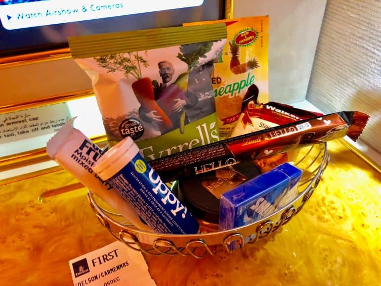 Emirates First Class Candy Basket