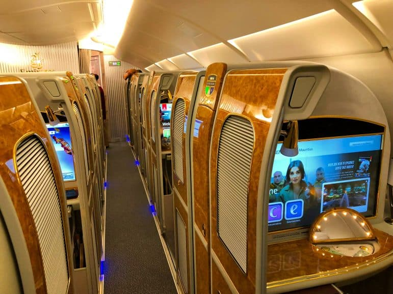 Emirates First Class Cabins on A380