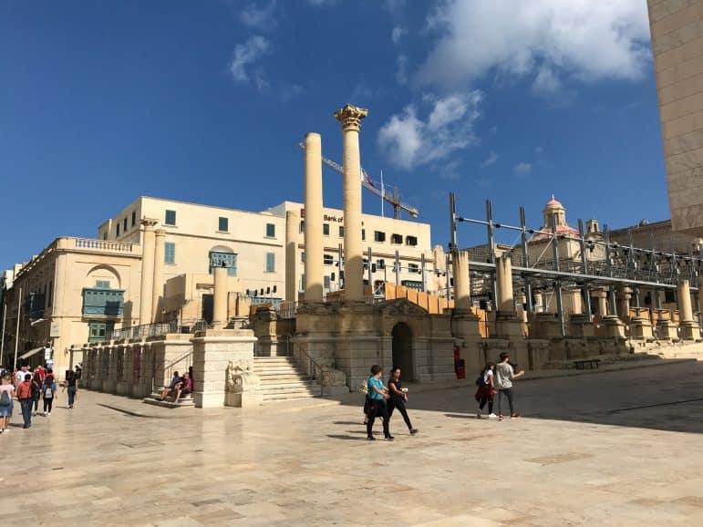 Ruins in Valletta - Malta