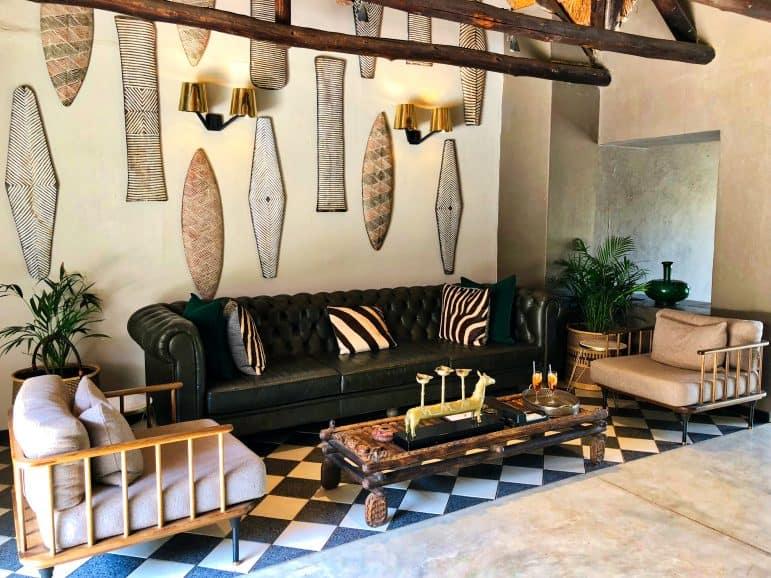 Sabi Sabi Bush Lounge Reception Area