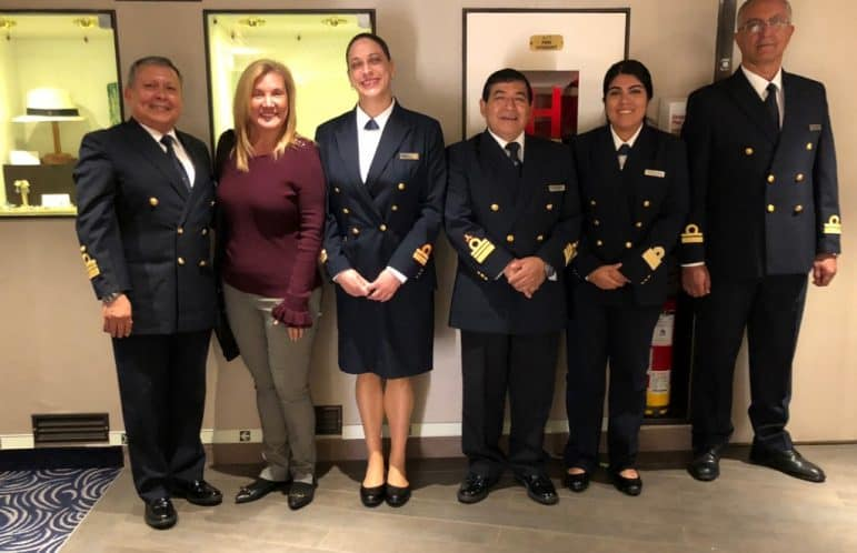 The Silver Galapagos Senior Officers and Captain