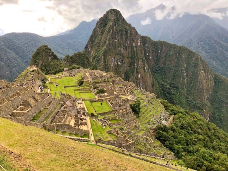 The breathtaking view of Machu Picchu