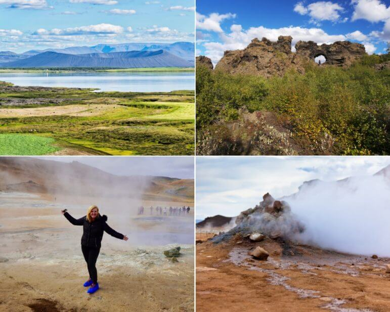 Lake Myvatn, The Namaskard Geothermal Fields, and the Dimmuborgir Lava Formations