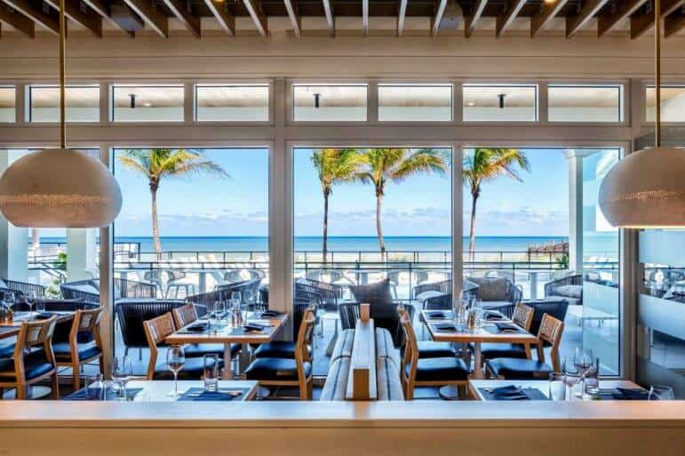 Oceanfront Dining at Drift Kitchen + Bar - Image Hutchinson Shores Resort & Spa
