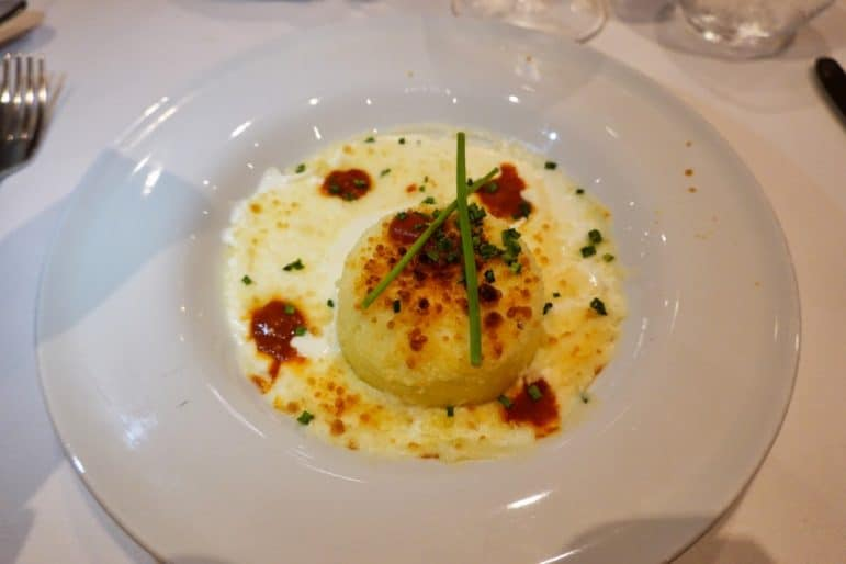 Admiral Steak & Seafood Restaurant - Baked Goat Cheese Soufflé