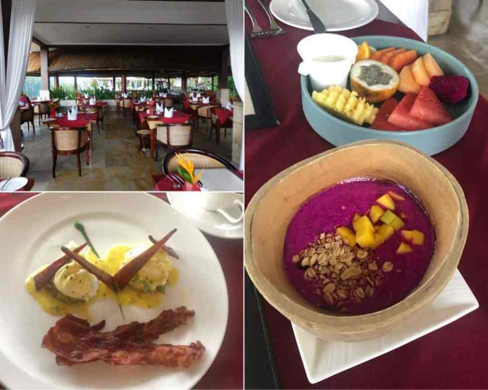 Breakfast Selections at CasCades Restaurant - Viceroy Bali