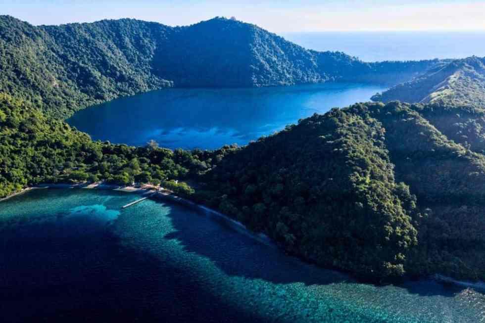 The Island of Satonda Island Indonesia