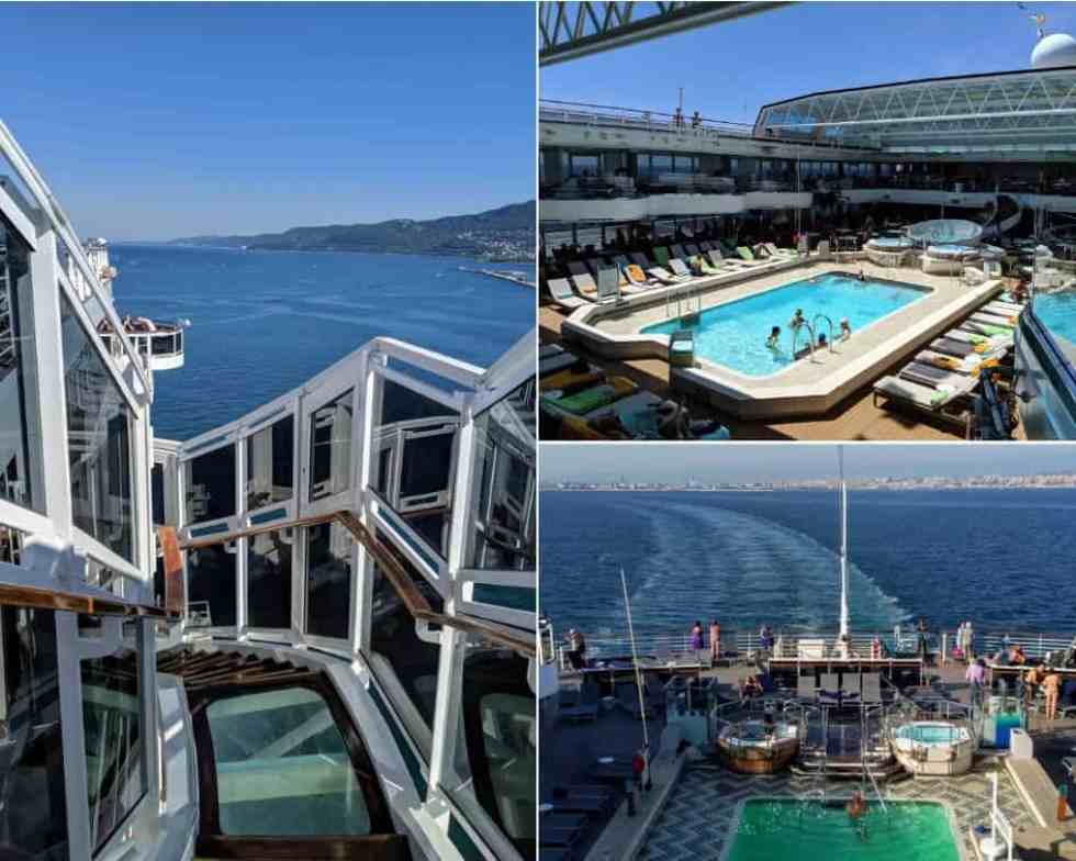 MS Koningsdam Outdoor Decks and Pool Areas