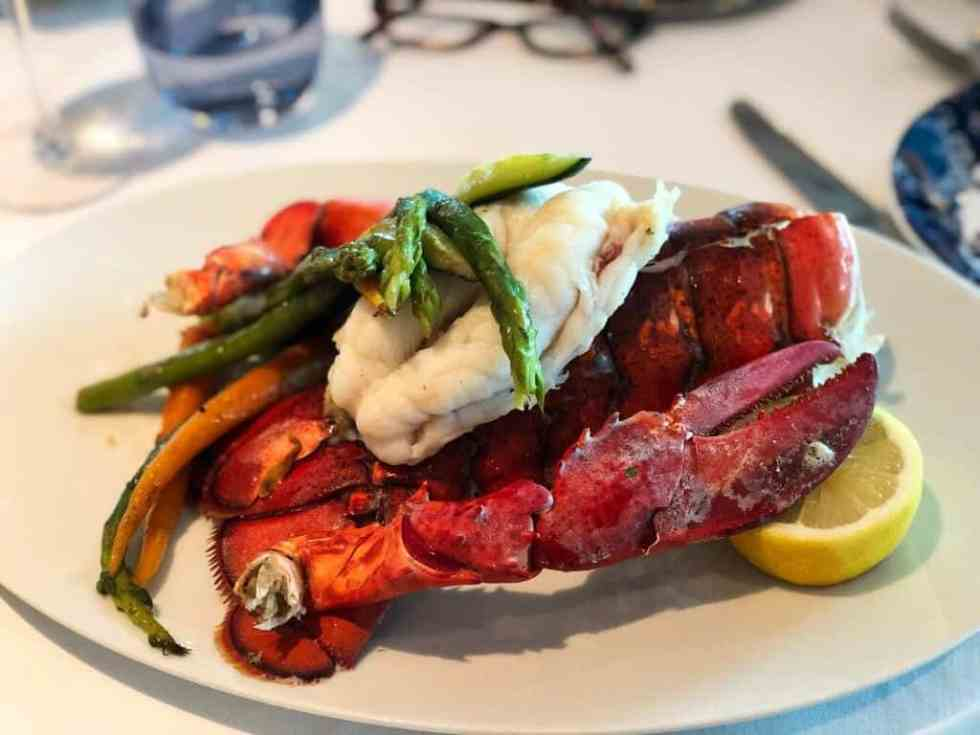Lobster Meal at the Dining Room - Holland America MS Koningsdam