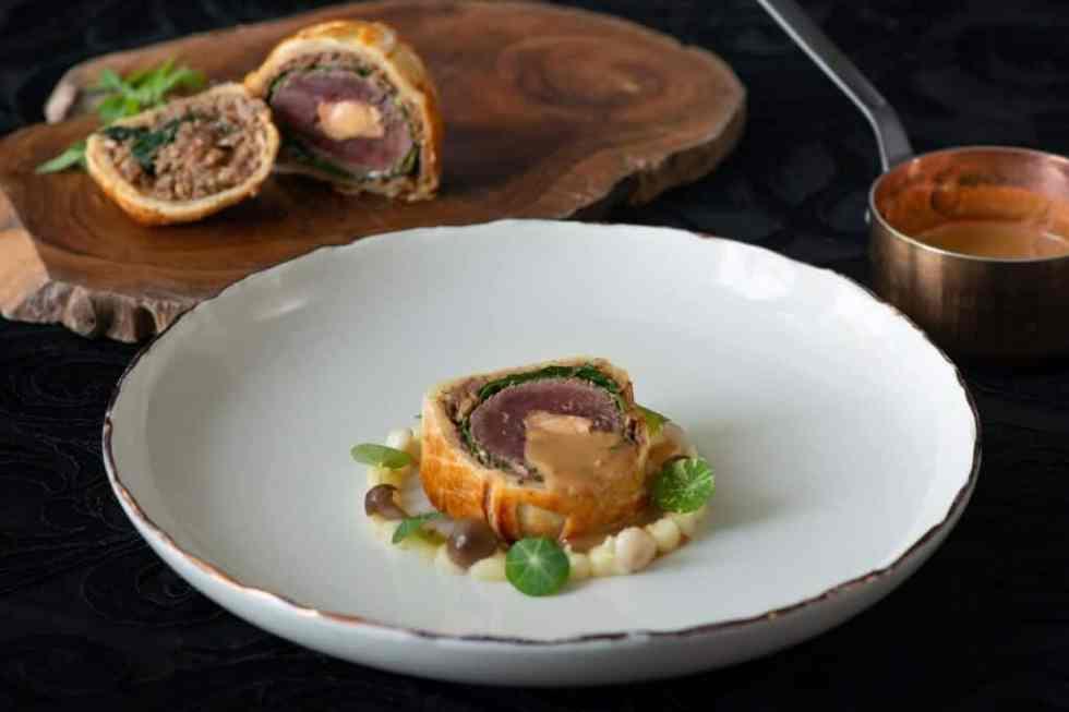Venison Wellington Dish - Aperitif Degustation Menu