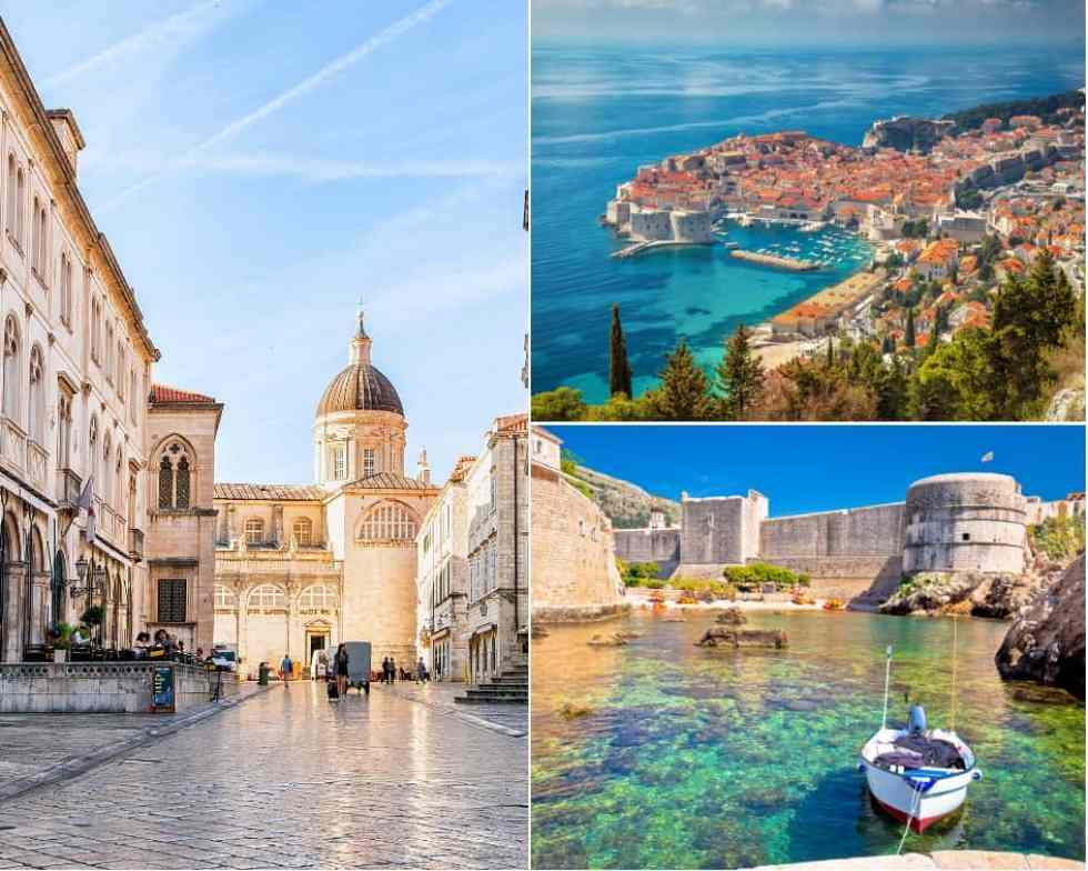 Inside the city of Dubrovnik and its city walls