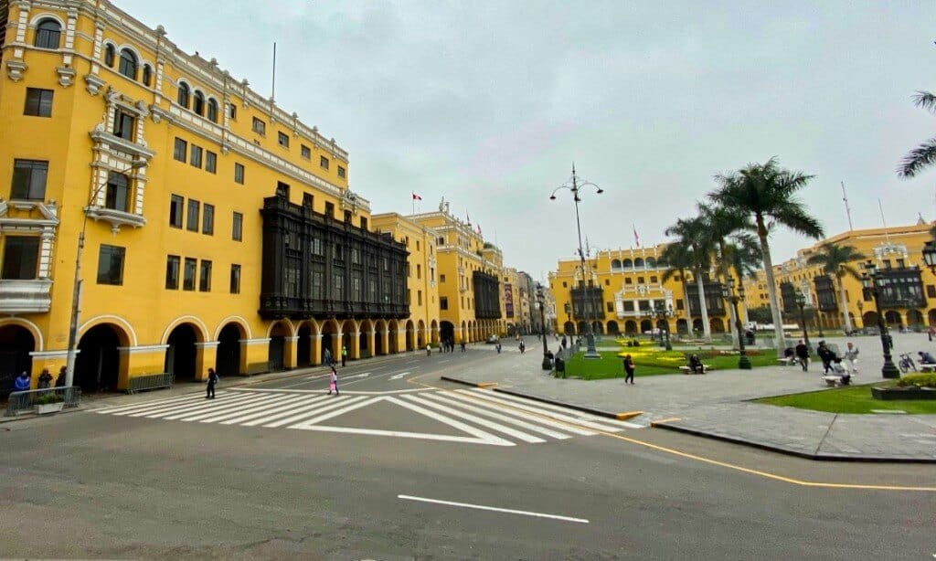 Lima's historical downtown area