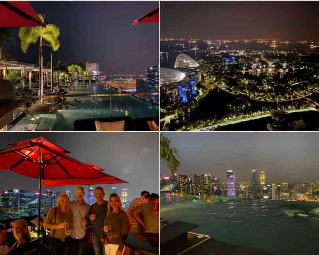 Drinks with a veiw at CÉ LA VI Club Lounge - Marina Bay Sands Hotel