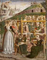 medieval class history ages middle working late urban renaissance church european role woman roles painting paintings month italian peasant del