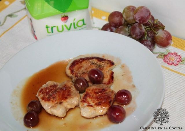 Solomillo de cerdo en salsa de uvas