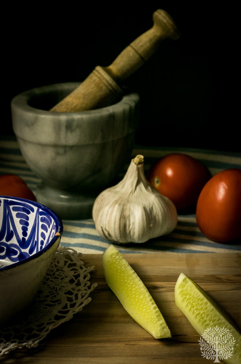 sopa de ajo de tomate