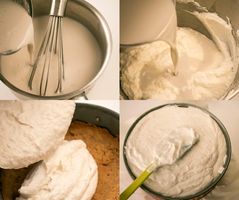 Tarta de mousse de coco