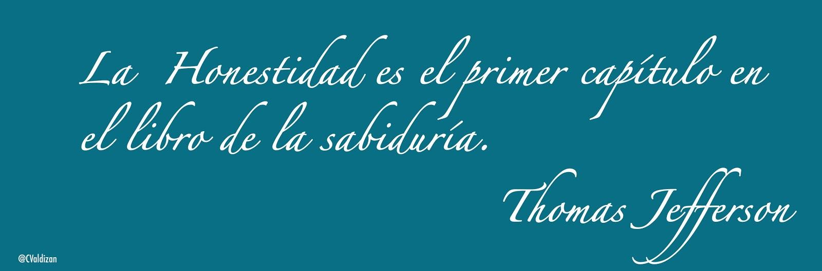 Honestidad - Thomas Jefferson