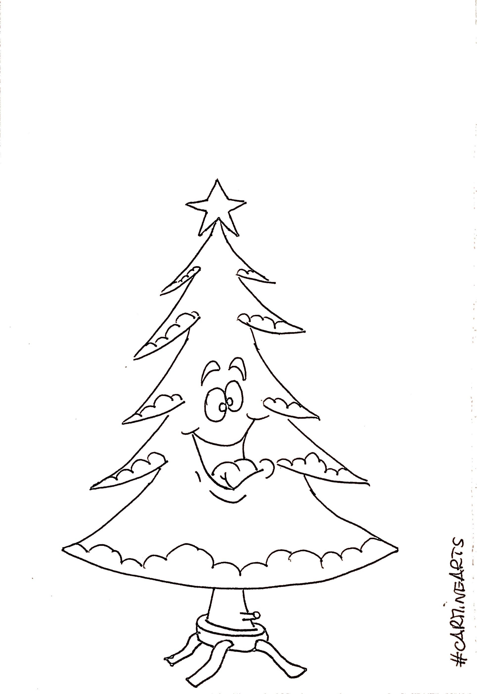 Disegni Di Alberi Di Natale.Disegni Albero Di Natale Da Colorare