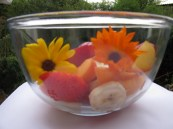 Fruit and flower salad