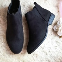 Black Flat Ankle Boots / £8.00