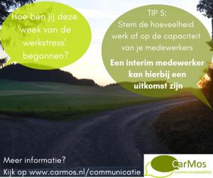 week van de werkstress interim medewerker