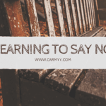 Thinking out loud #26: Learning to Say No