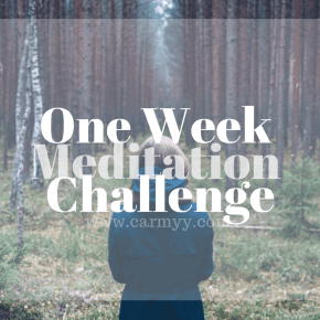 Try it Tuesday: One Week Meditation Challenge