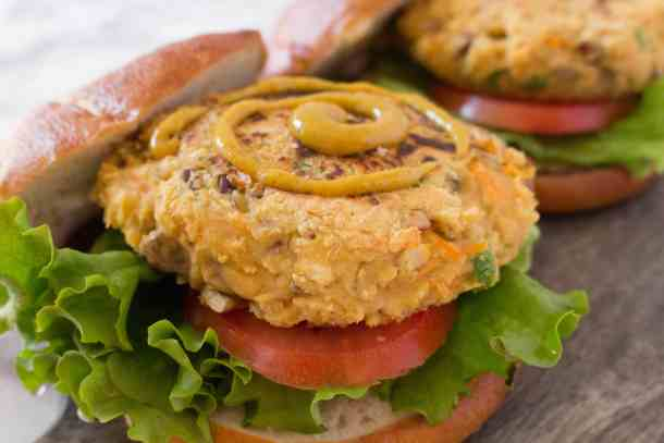 Chickpea and Brown Rice Burger