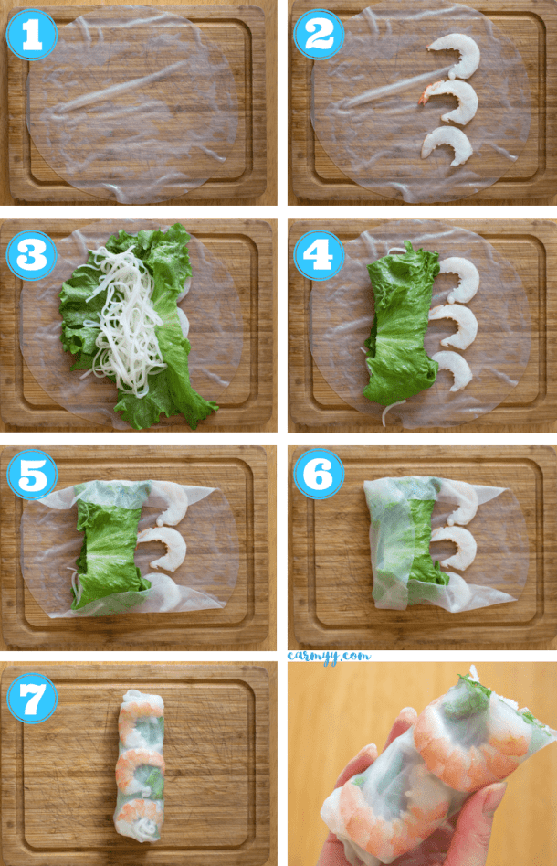 These fresh and healthy Vietnamese Rice Paper Shrimp Rolls are so easy to make! They're accompanied by my go-to creamy peanut sauce.