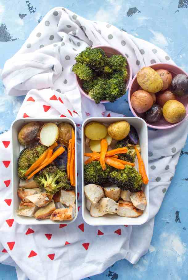 Need a meal prep idea for this week? Why not try this one sheet pan honey mustard chicken & veggies! It's simple, delicious, & fast to make!