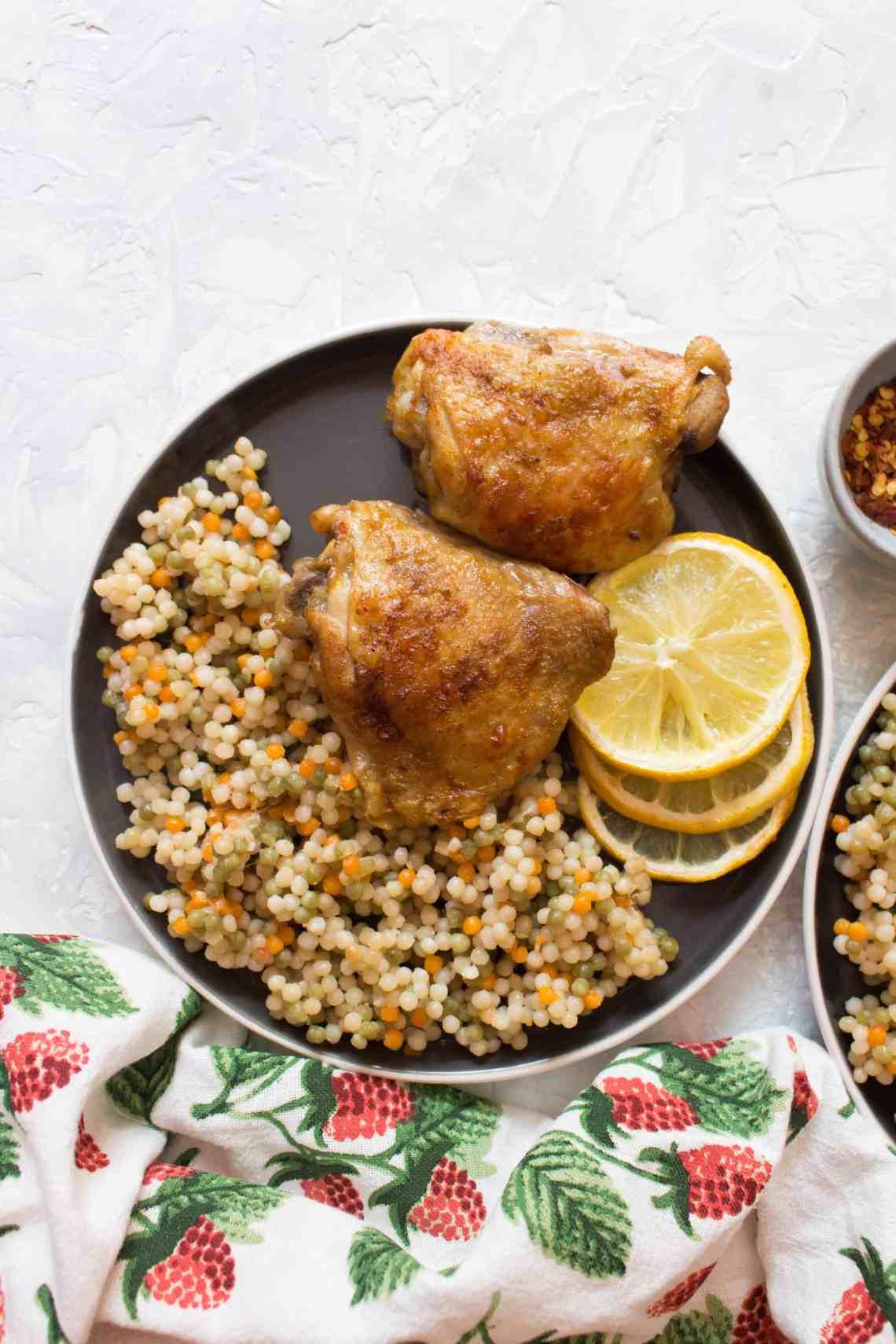 Instant Pot Lemon Garlic Chicken - Carmy - Run Eat Travel