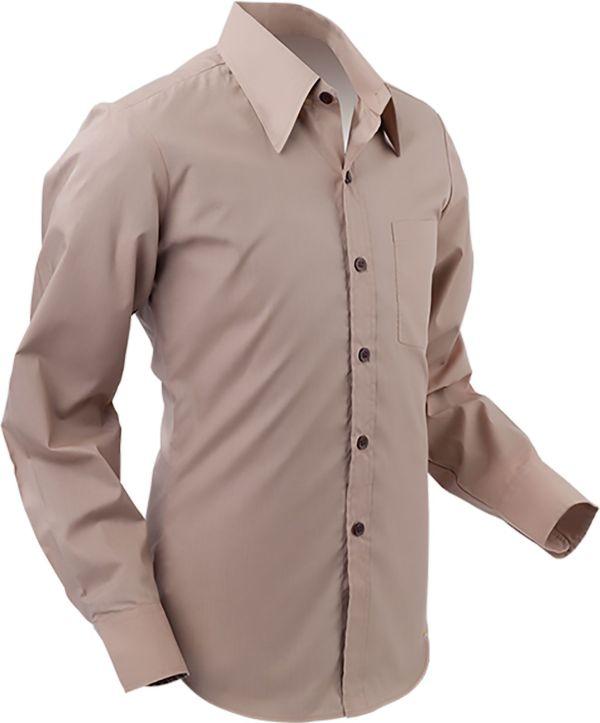 Chenaski Mens Light Brown Retro 70 Styled Plain Coloured