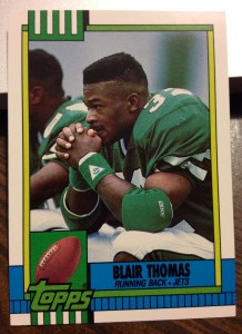 Blair Thomas 1990 Topps Traded rookie card No. 34T