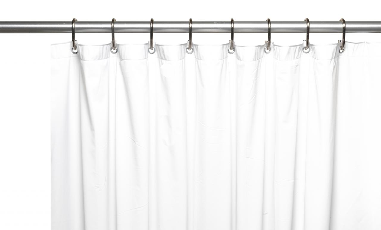 Carnation Home Fashions Inc 10 Gauge PEVA Shower Curtain Liners With Reinforced Mesh Header