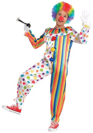 Costum Clown Salopeta 8 10 Ani