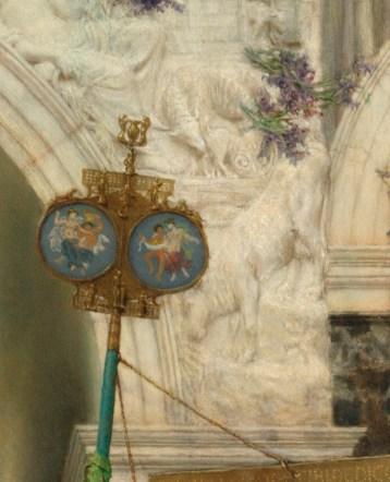 Spring; Lawrence Alma-Tadema, Dutch, 1836 - 1912; 1894; Oil on canvas; Unframed: 178.4 x 80.3 cm (70 1/4 x 31 5/8 in.), Framed [outer dim] (Display / Original): 243.8 x 128.9 x 12.7 cm (96 x 50 3/4 x 5 in.); 72.PA.3