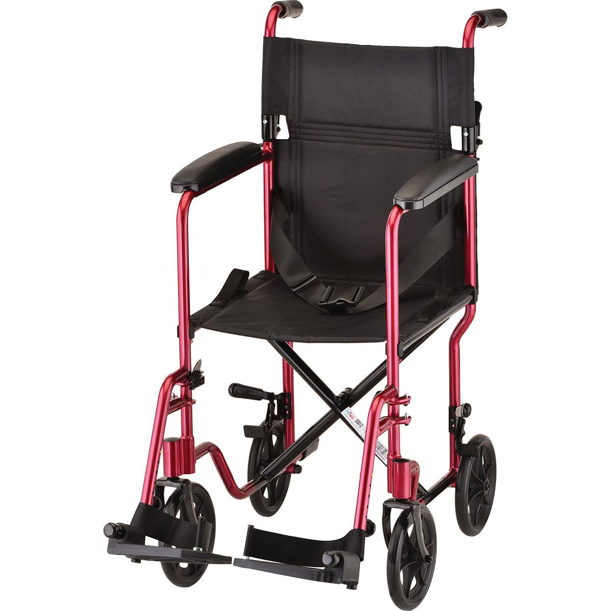 lightweight transport chair outdoor cushions new zealand nova 17 quot seat width red
